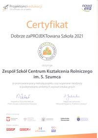 certyfikatDobrzezaPROJEKRKTowanaSzkola